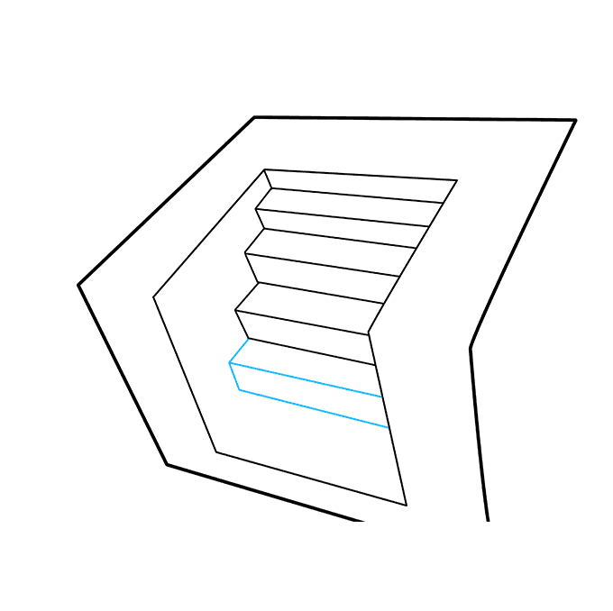 How to Draw 3D Stairs: Step 6