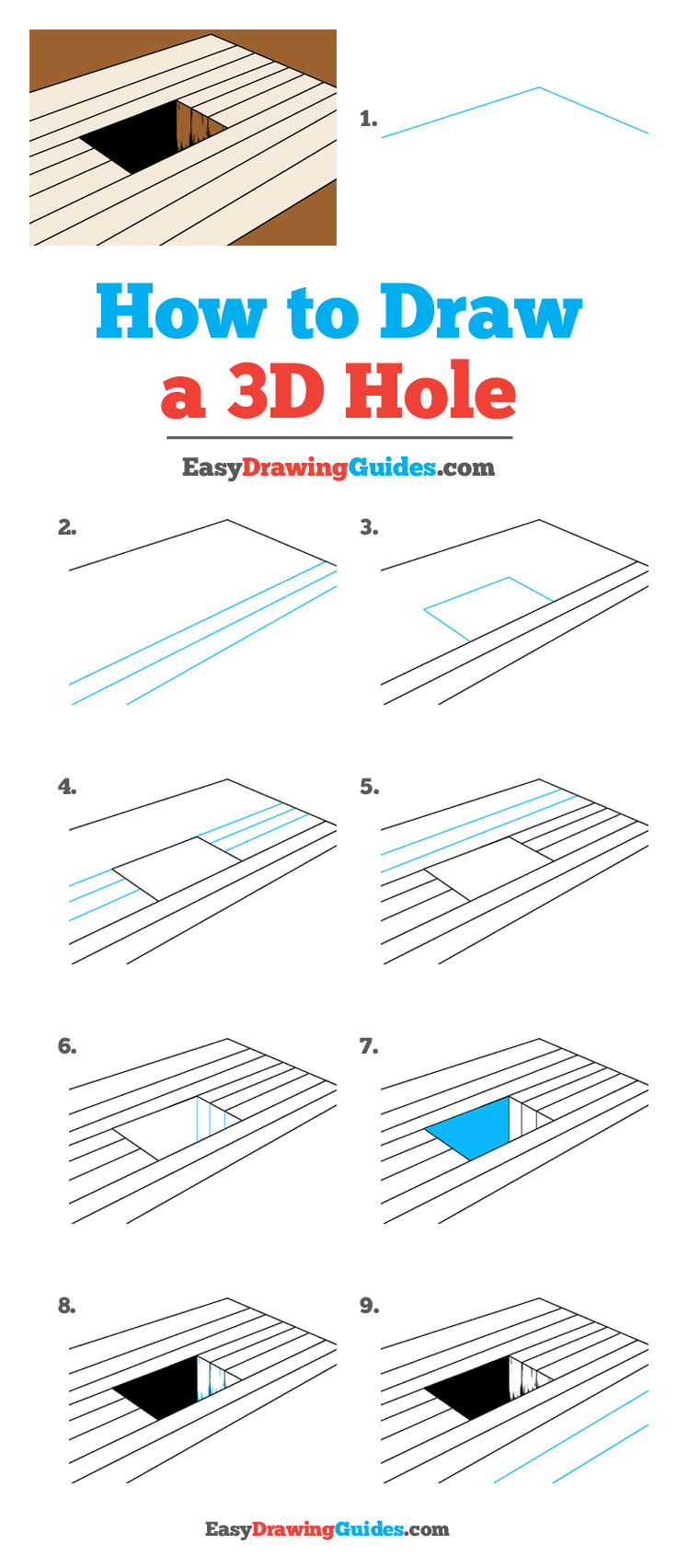 How to Draw 3D Hole