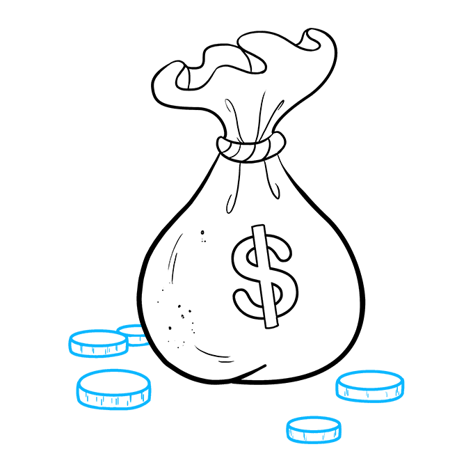 How to Draw Cartoon Money: Step 9