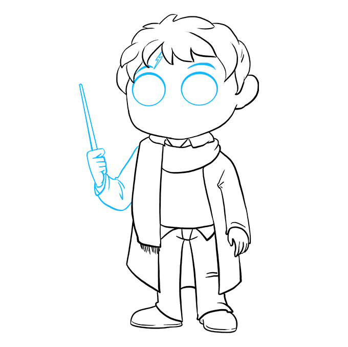 How to Draw Harry Potter Step 07