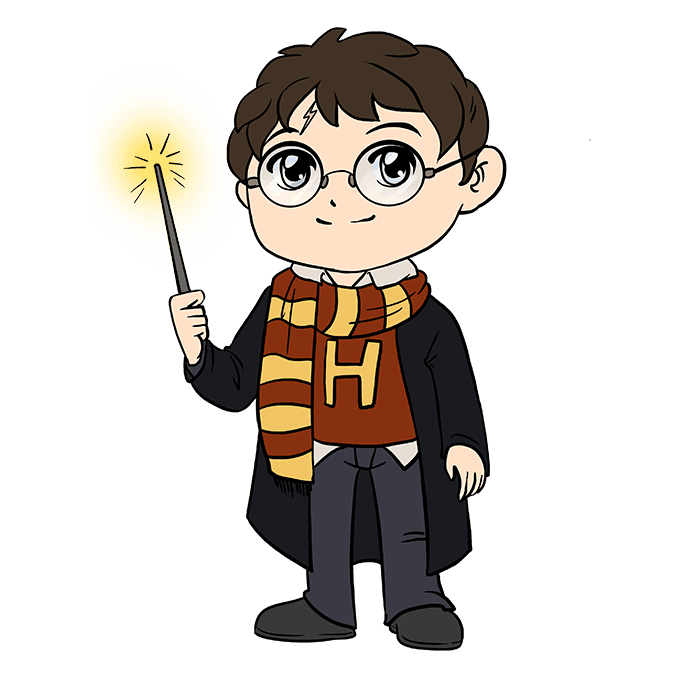 How to Draw Harry Potter Step 10