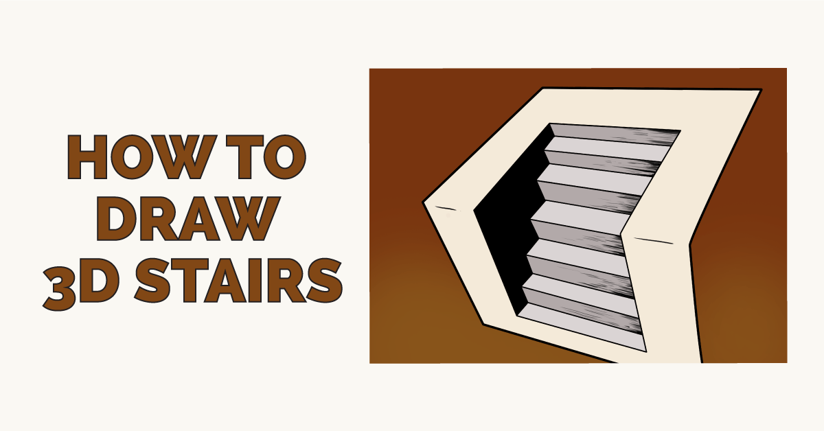 How to Draw 3D Stairs Featured Image