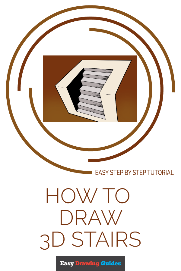 How to Draw 3D Stairs | Share to Pinterest
