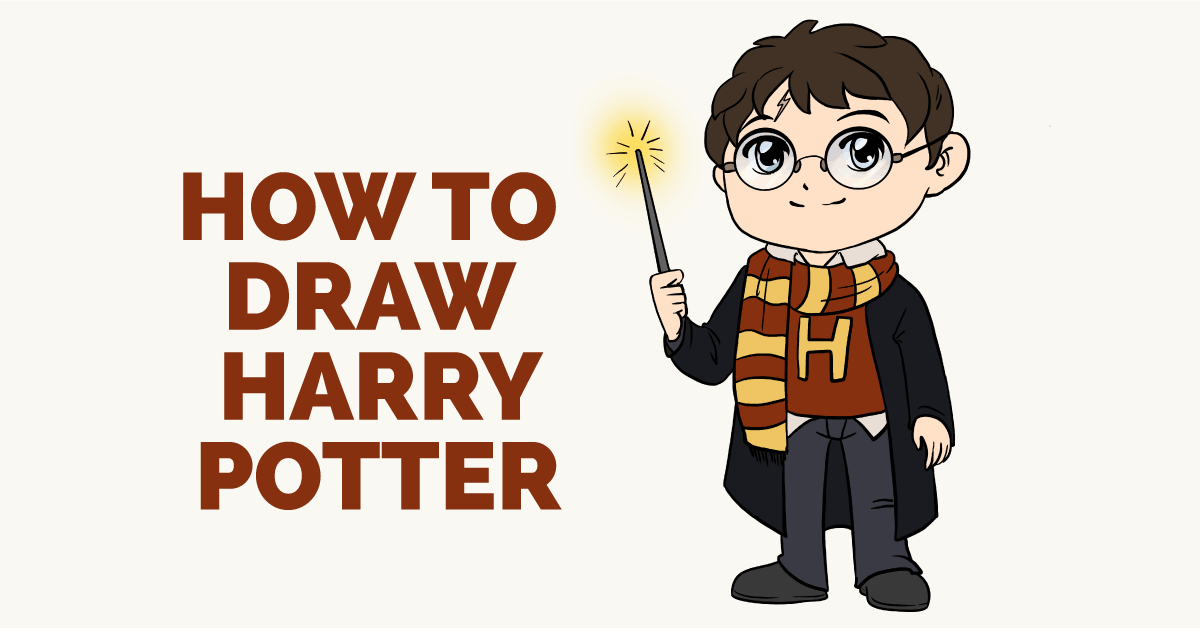 how to draw harry potter really easy drawing tutorial how to draw harry potter really easy