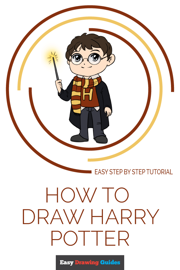 How to Draw Harry Potter Pinterest Image