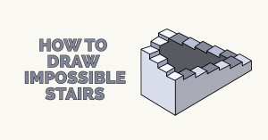 How to Draw Impossible Stairs Featured Image