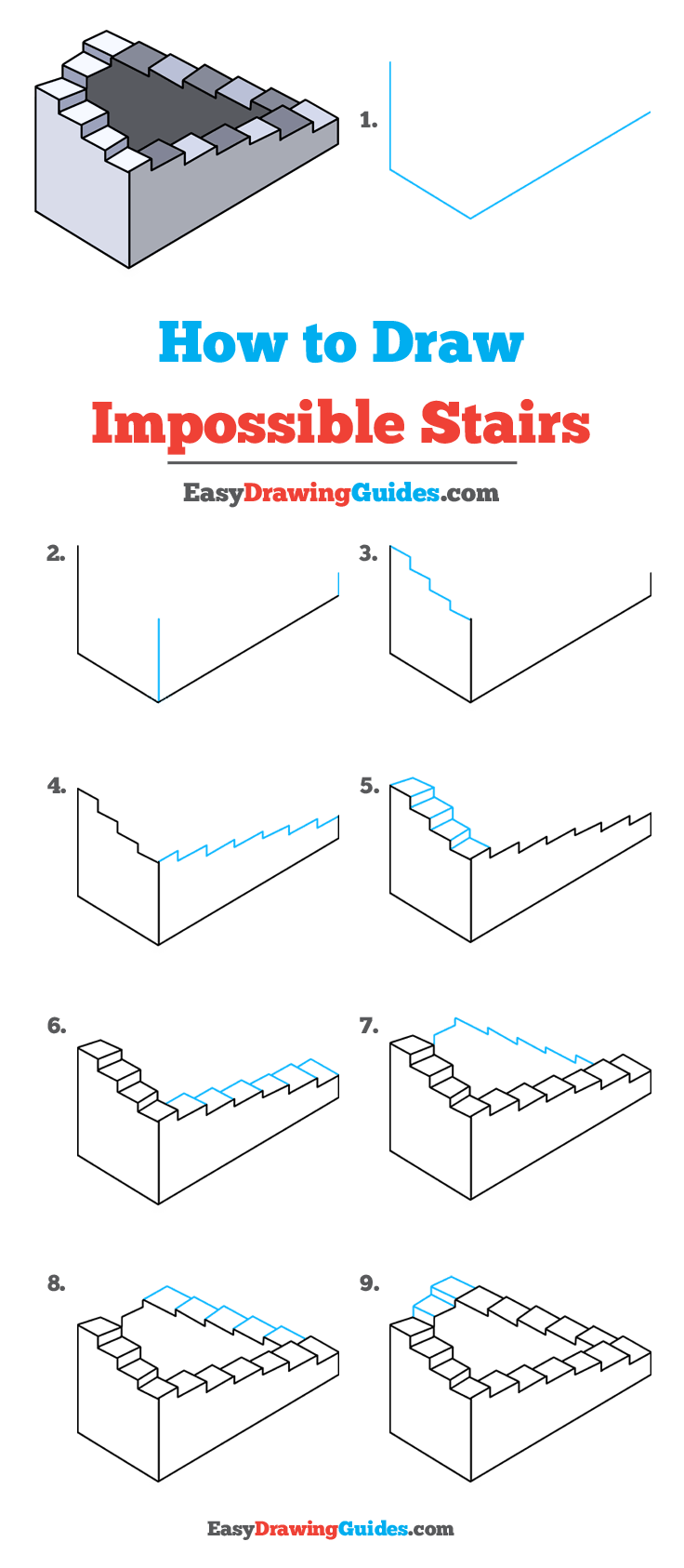 How to Draw Impossible Stairs