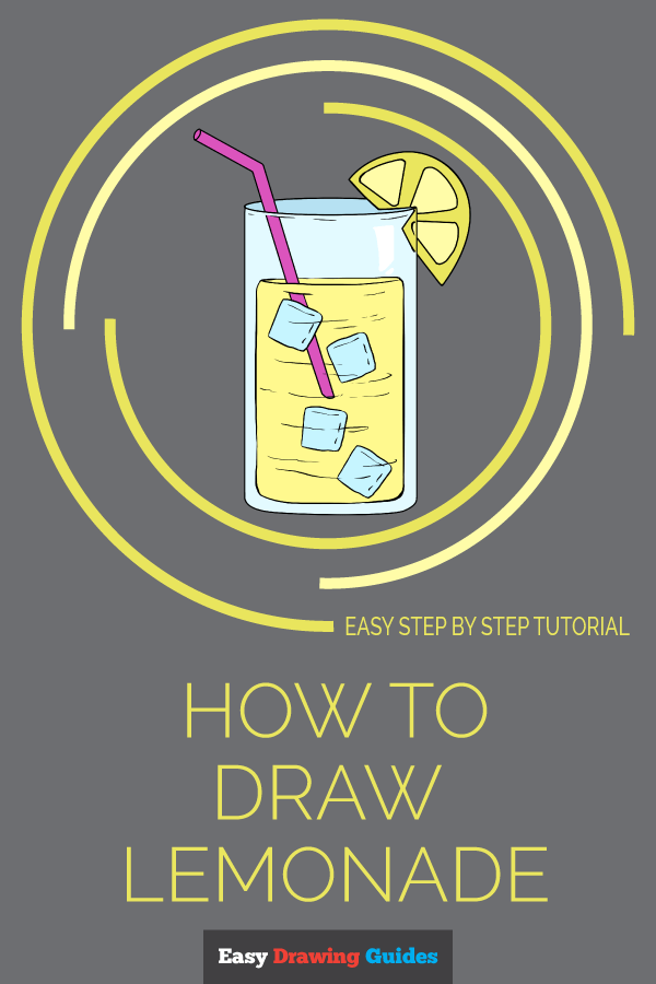 How to Draw Lemonade | Share to Pinterest