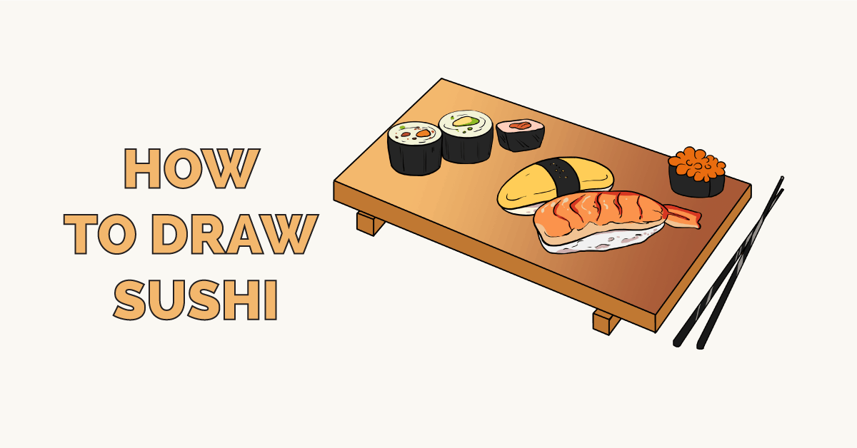 How to Draw Sushi Featured Image