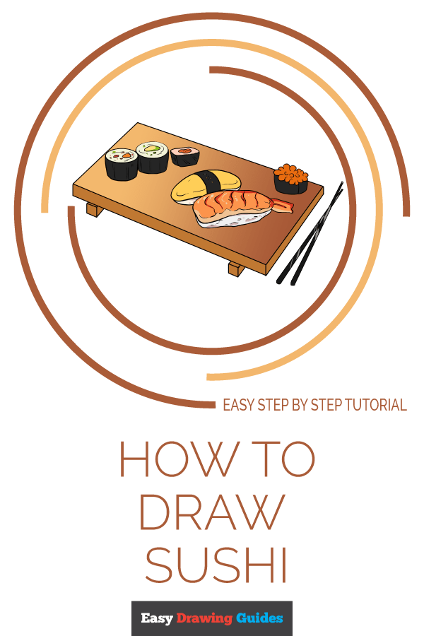 How to Draw Sushi | Share to Pinterest