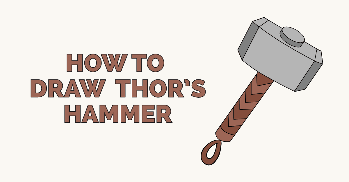 How to Draw Thors Hammer Featured Image