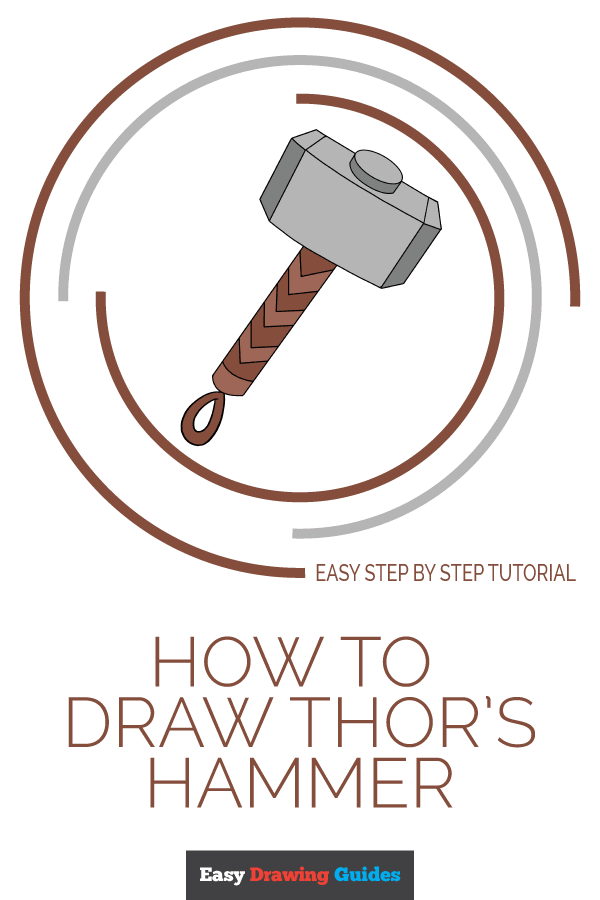 How to Draw Thor's Hammer | Share to Pinterest