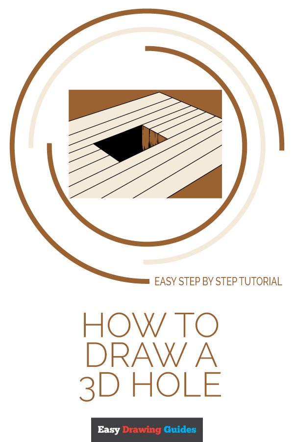 How to Draw 3D Hole | Share to Pinterest