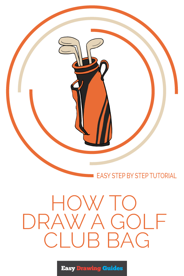 How to Draw Golf Club Bag | Share to Pinterest