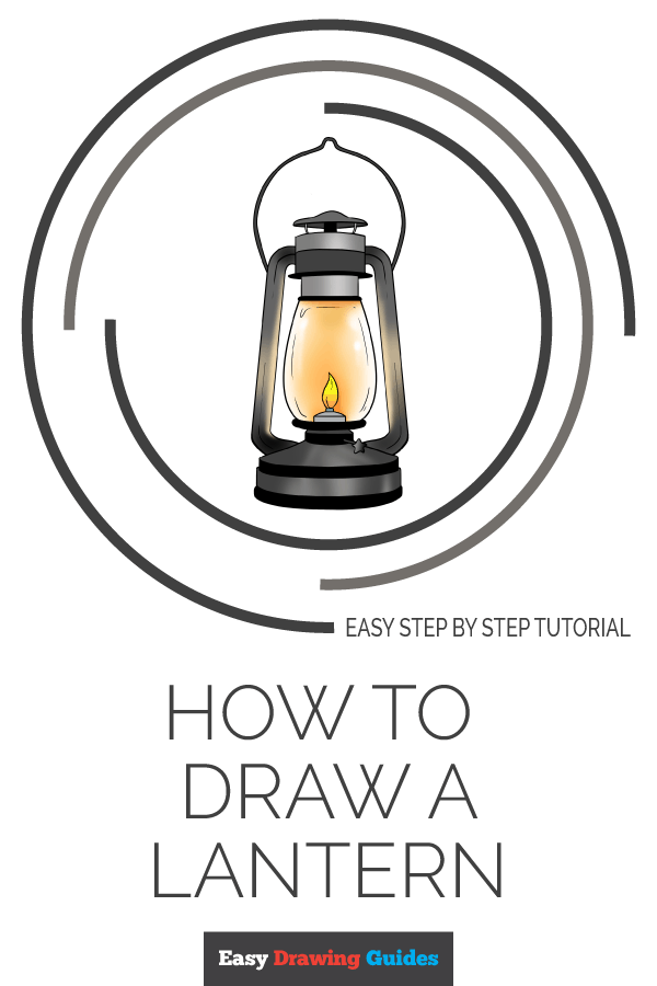 How to Draw Lantern | Share to Pinterest
