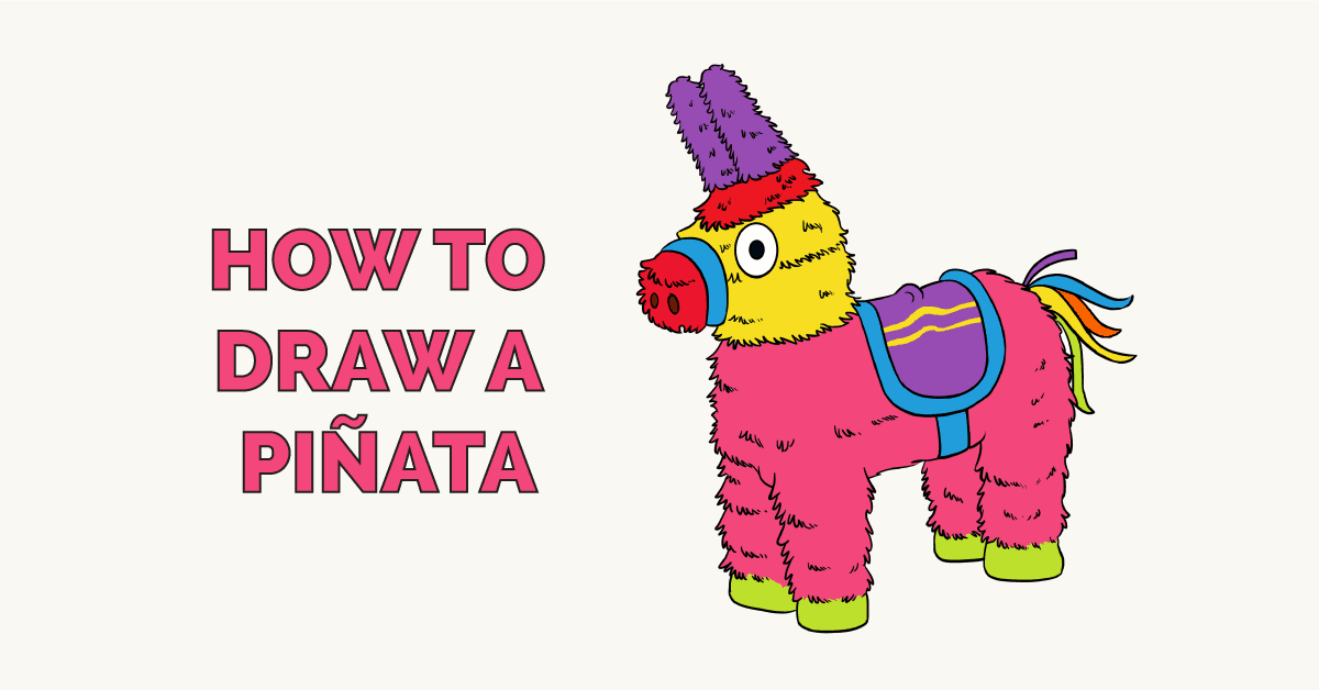How to Draw a Piñata - Really Easy Drawing Tutorial
