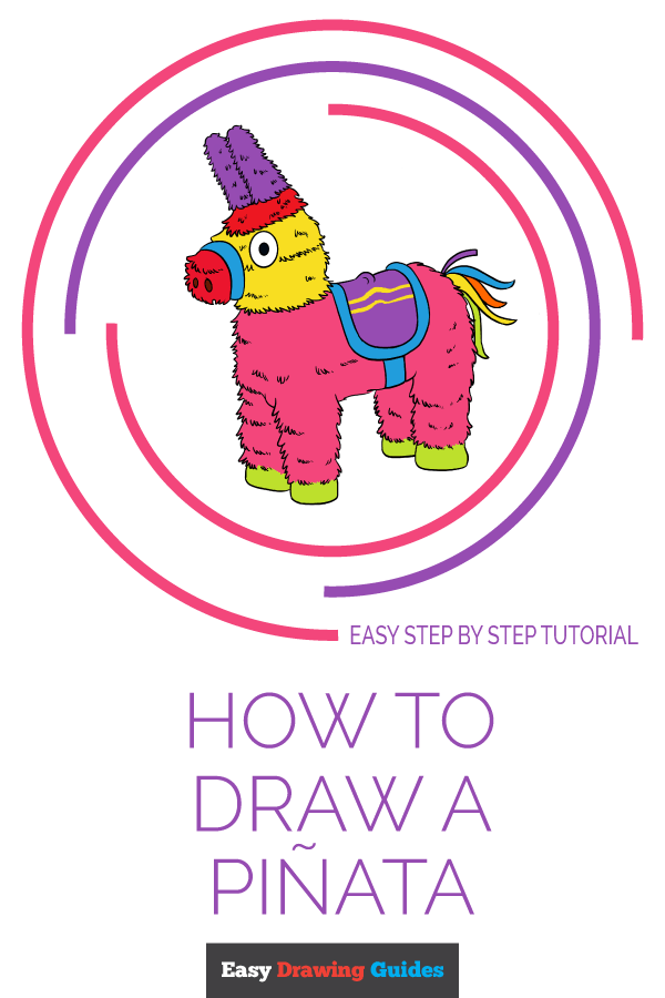 How to Draw a Piñata Pinterest Image