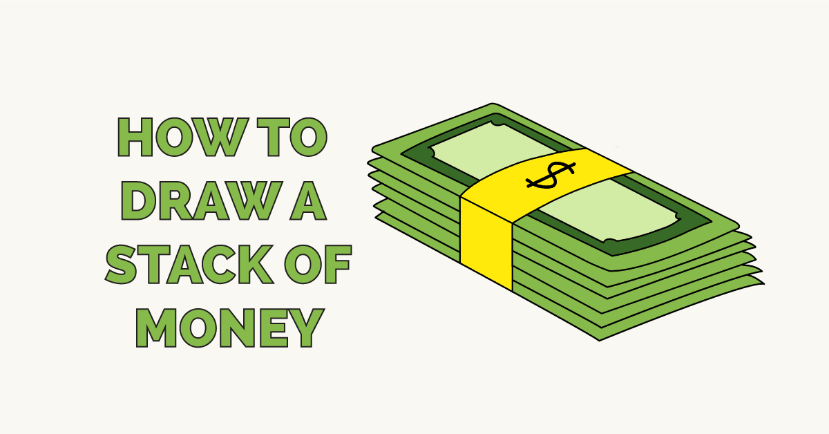 It is a graphic of Sweet Stacks Of Money Drawing