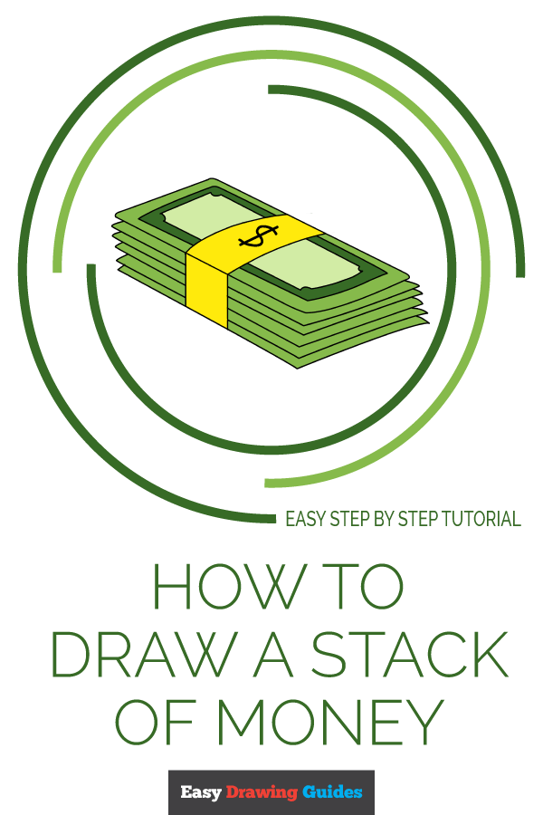 How to Draw Stack of Money | Share to Pinterest