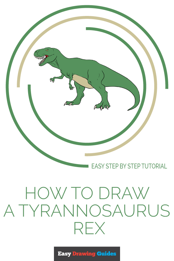 How to Draw Tyrannosaurus Rex | Share to Pinterest