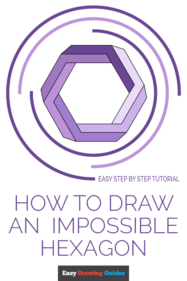 How to Draw Impossible Hexagon | Share to Pinterest