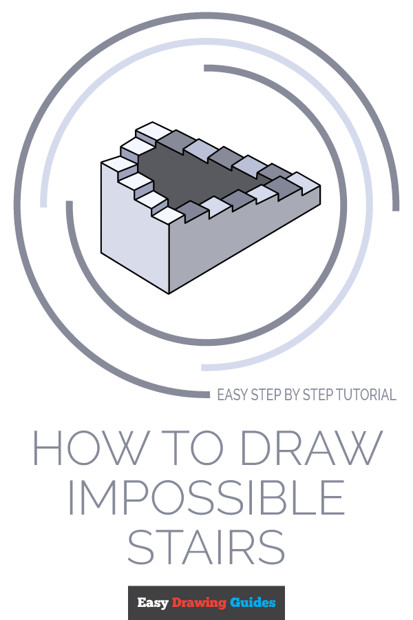 How to Draw Impossible Stairs | Share to Pinterest