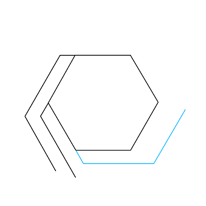 How to Draw Impossible Hexagon: Step 4