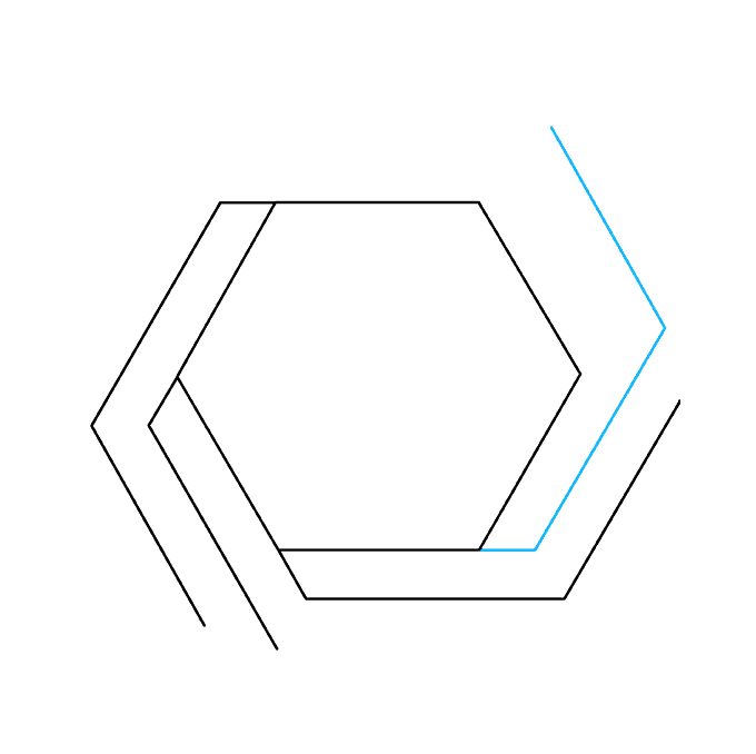 How to Draw Impossible Hexagon: Step 5