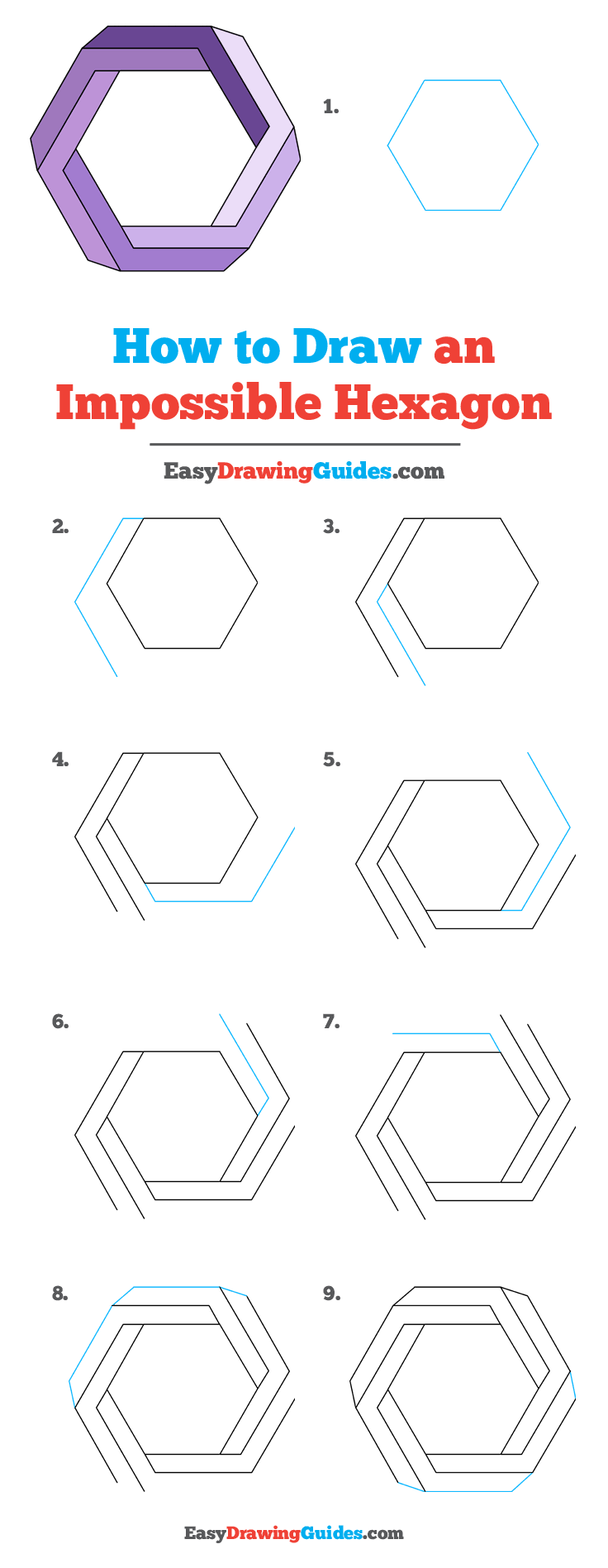 How to Draw Impossible Hexagon