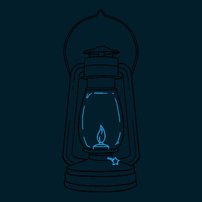 How to Draw Lantern: Step 9
