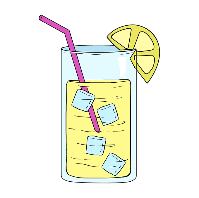 How to Draw Lemonade: Step 10