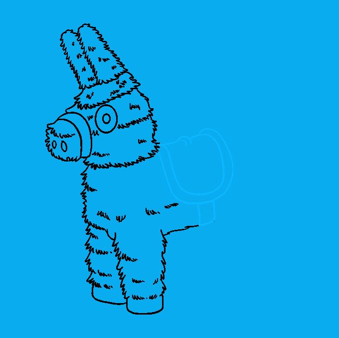 How to Draw a Piñata Step 7