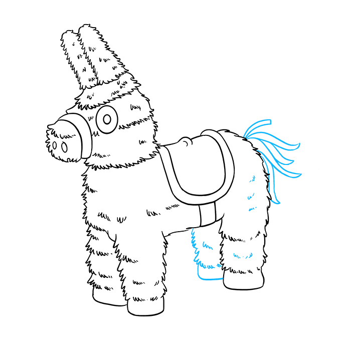How to Draw a Piñata Step 9
