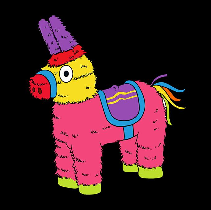 How to Draw a Piñata Step 10