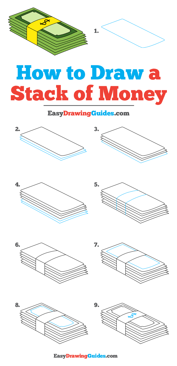 How to Draw Stack of Money