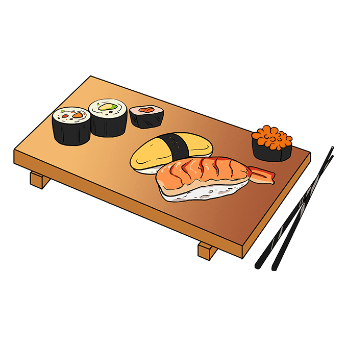 How to Draw Sushi Step 10