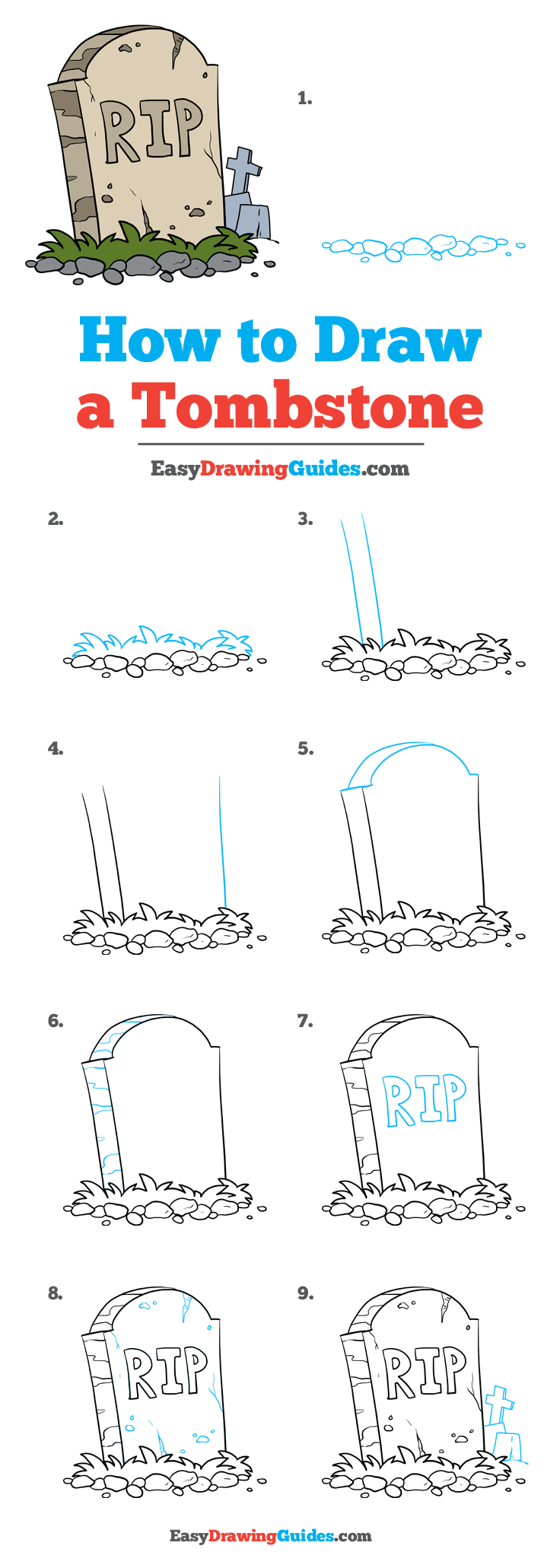 How to Draw Tombstone