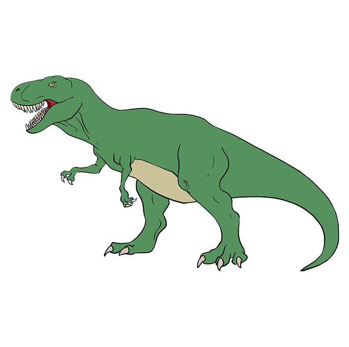 How to Draw Tyrannosaurus Rex: Step 10