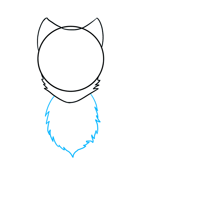 How to Draw Arctic Fox: Step 3
