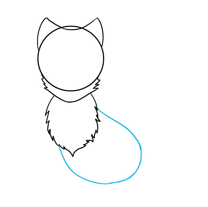 How to Draw Arctic Fox: Step 4