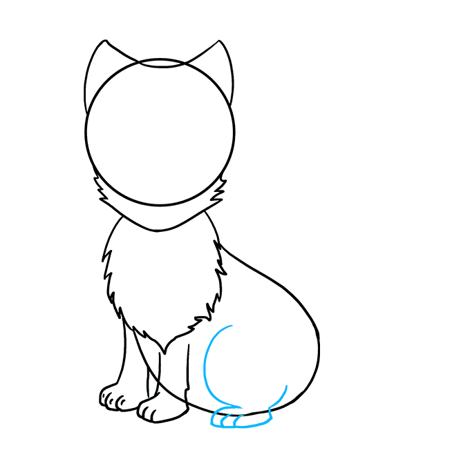 How to Draw Arctic Fox: Step 6