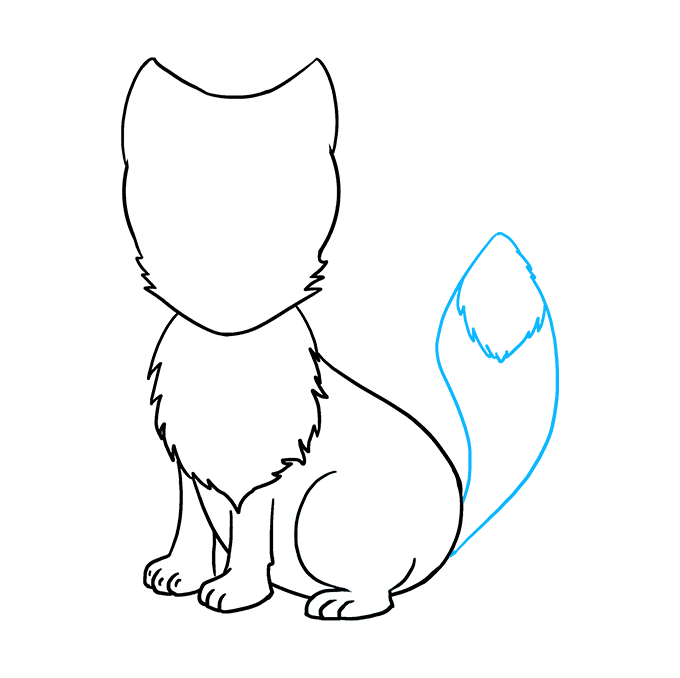 How to Draw Arctic Fox: Step 8