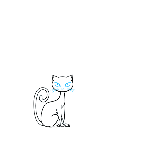 How to Draw a Black Cat 06
