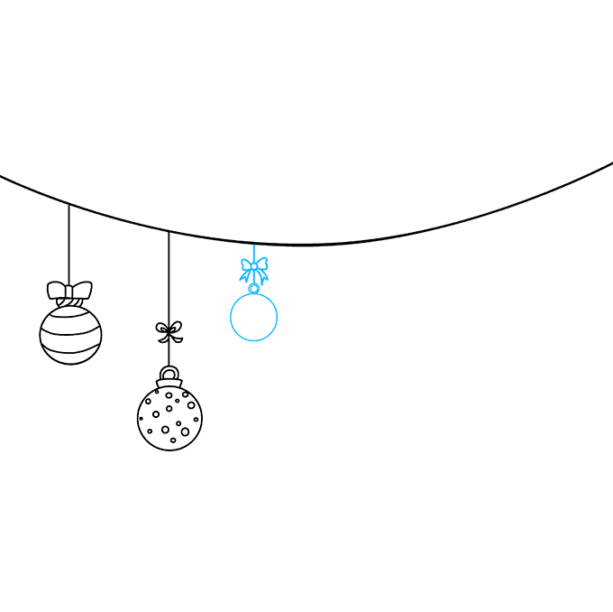 How to Draw Christmas Ornaments: Step 5