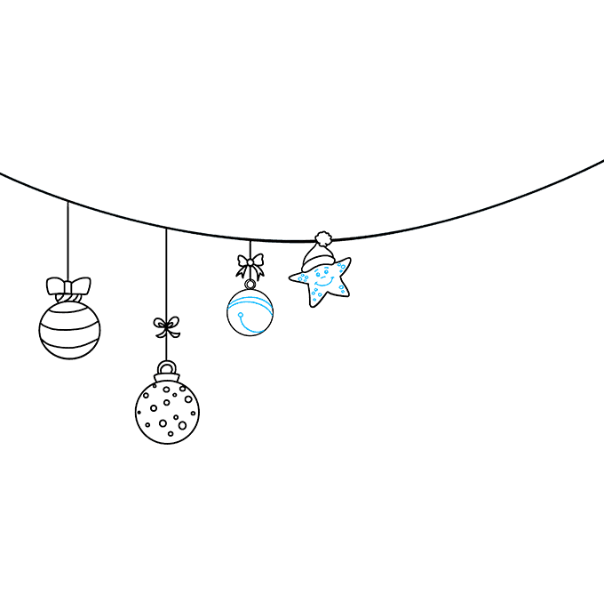 How to Draw Christmas Ornaments: Step 7
