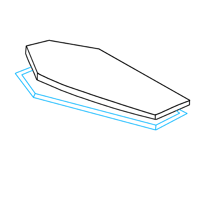 How to Draw Coffin: Step 3