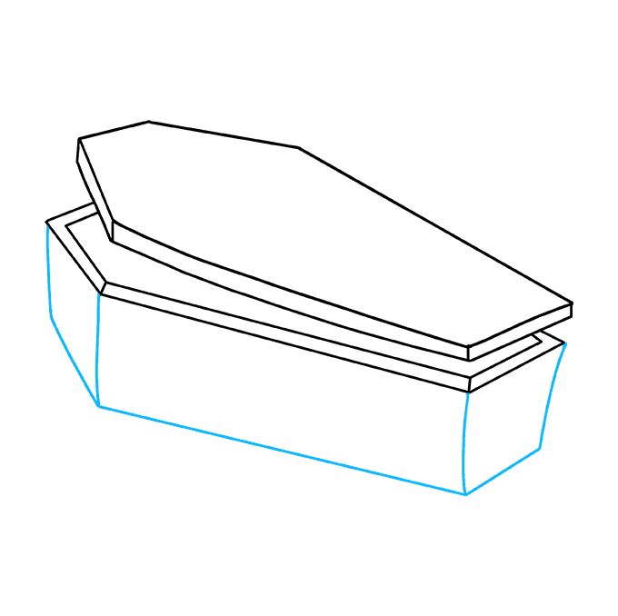 How to Draw Coffin: Step 4