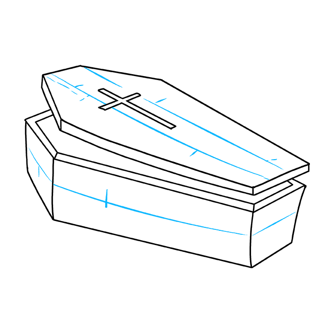 How to Draw Coffin: Step 6