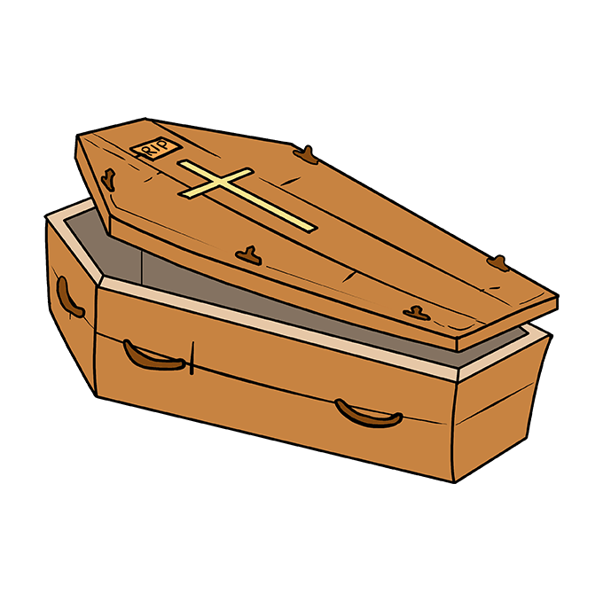 How to Draw Coffin: Step 10