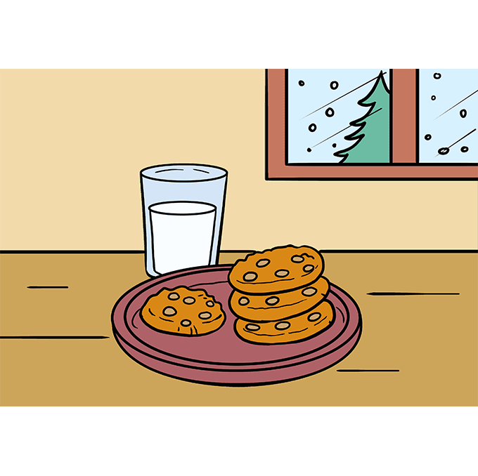 How to Draw Cookies Step 10